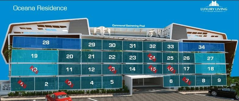 מפת הדירות בפרוייקט