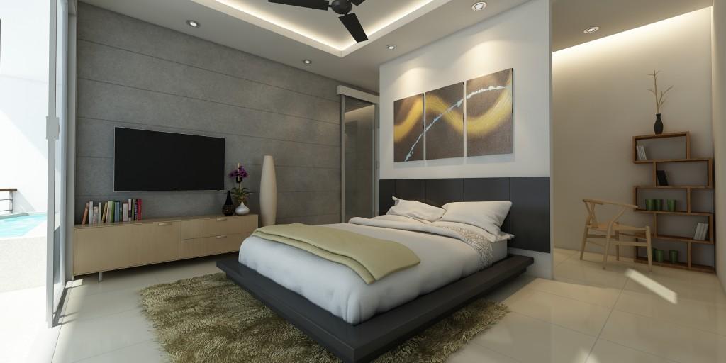 הדמיה של חדר השינה - אושינאווה רזידנס