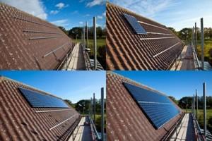 התקנת פנלים סולאריים על גג בבניה ירוקה